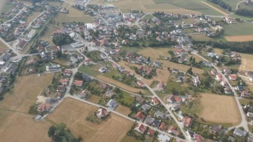 Flugansicht Natternbach Ortskern